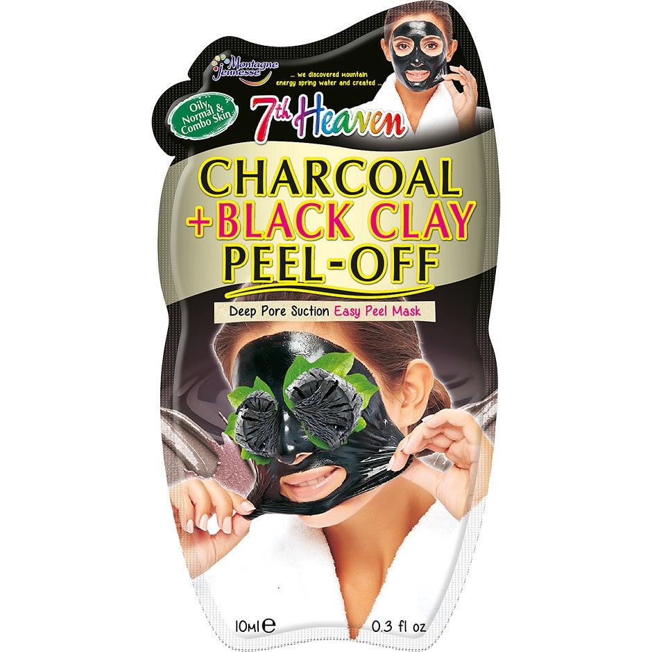 Bilde av Kjøp Charcoal & Black Clay Peel-off Mask, 7th Heaven Ansiktsmaske Fri Frakt