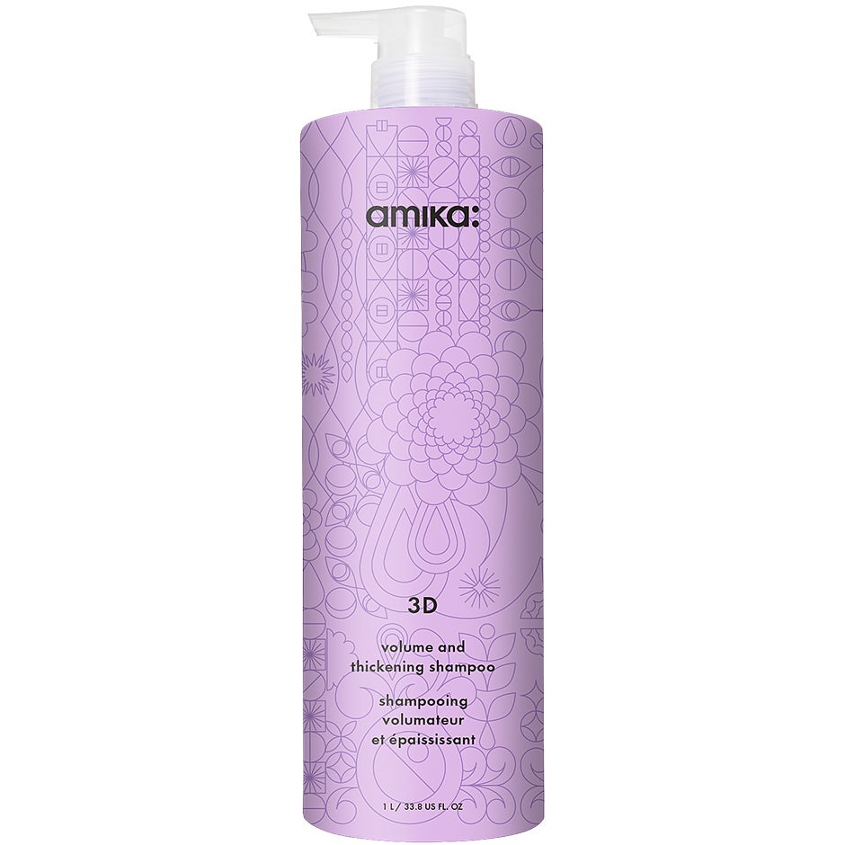 Bilde av 3d Volumizing And Thickening Shampoo, 1000 Ml Amika Shampoo