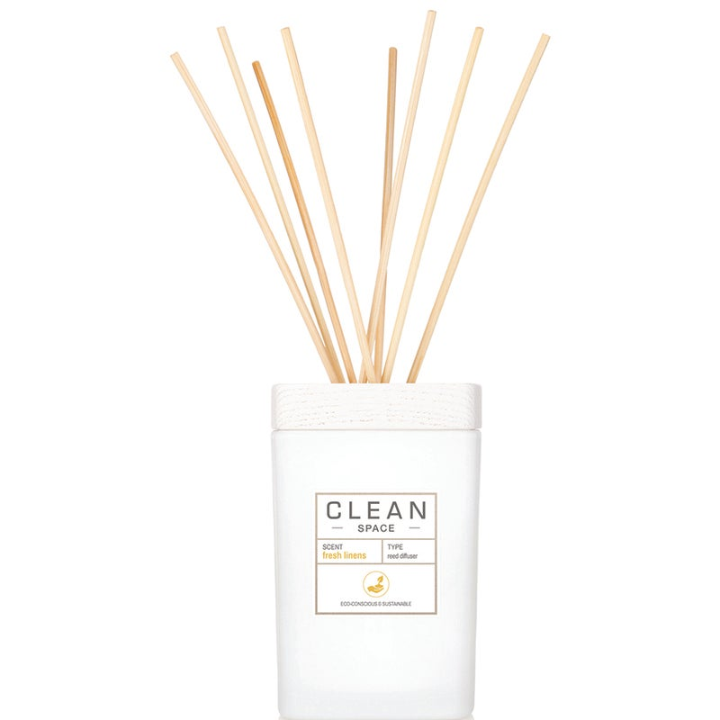 Clean Space Fresh Linens Reed Diffuser