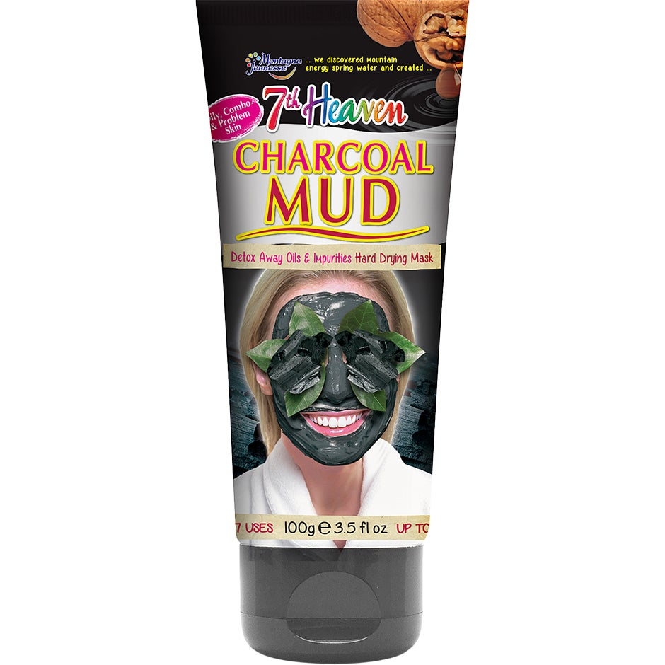 Bilde av Kjøp Charcoal Mud, 100 Ml 7th Heaven Ansiktsmaske Fri Frakt