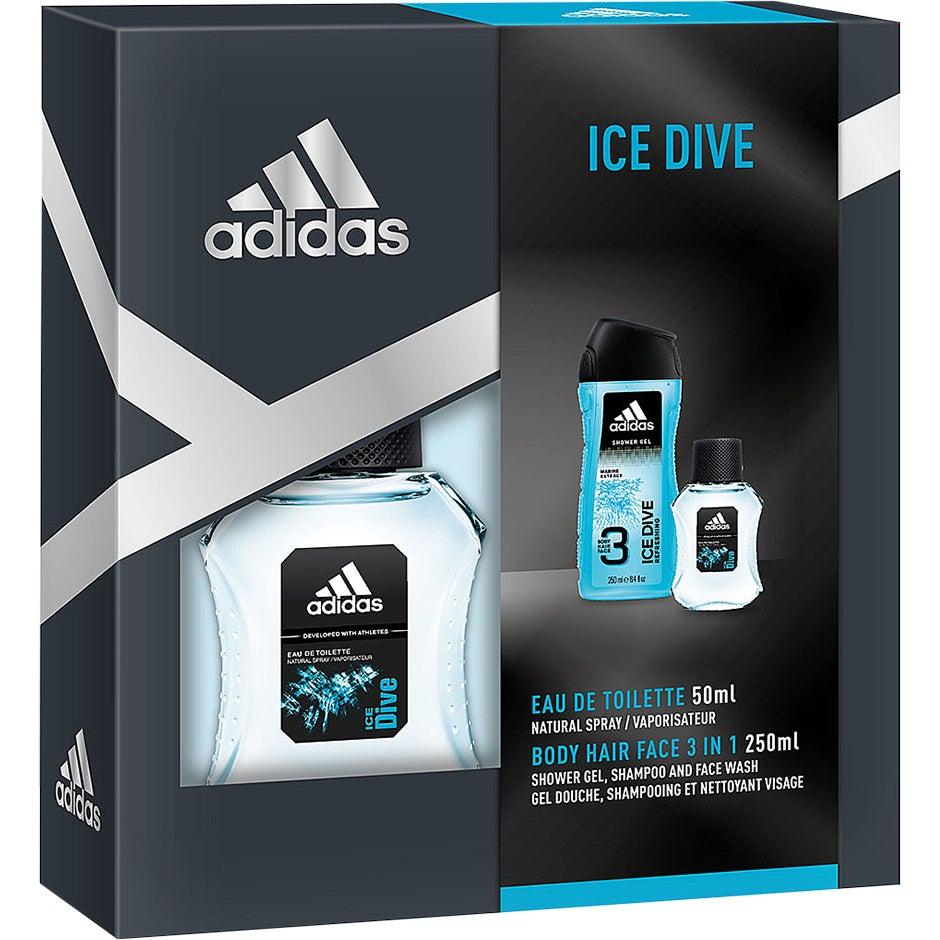 Adidas Ice Dive Gavesett 150ml Deodorant Body Spray + 250ml Shower Gel