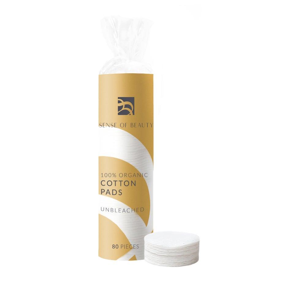 Bilde av 100% Organic Cotton Pads Unbleached, 80 Pcs Sense Of Beauty Kompletterende Produkter