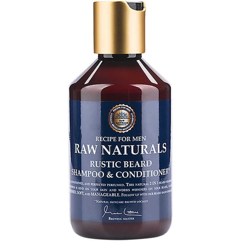 Raw Naturals by Recipe for Men Rustic Beard Shampoo & Conditioner